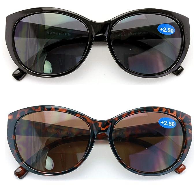 Amazon.com: 2 pares de gafas de lectura bifocales para mujer ...