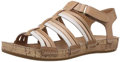 Clarks Women's Raspberry Chic (Fit D) Leather Fashion Sandals Fashion Sandals at amazon