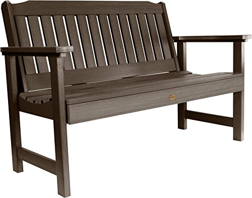 Highwood AD-BENW2-ACE Lehigh Garden Bench, 4 Feet, Weathered Acorn