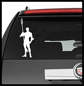 A Design World Decals for Cars DC Justice Leaque Aquaman Silhouette v2 - Vinyl Decal Truck Car Sticker Laptop