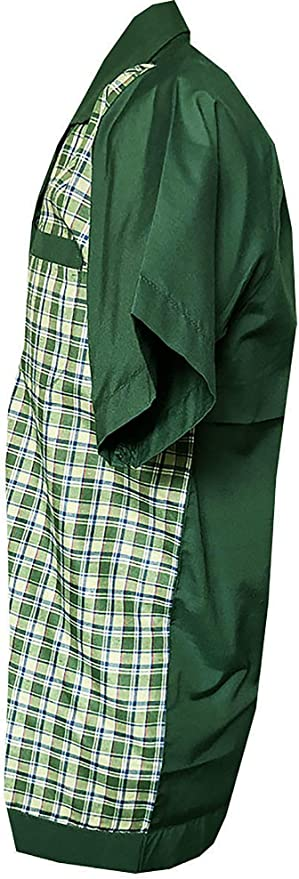 Rockabilly Fashions - Camisa casual con botones para hombre, estilo vintage retro de los años 50, 1960, diseño de bolos, color verde a cuadros S-3XL: Amazon.es: Ropa y accesorios