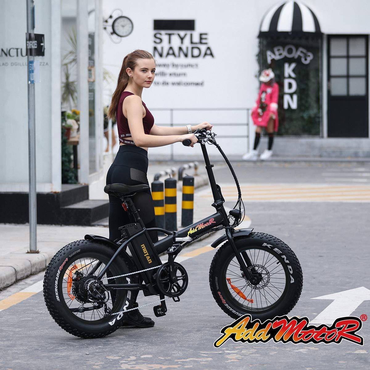 Addmotor Motan Folding Adult Electric Bikes 20 Inch Fat