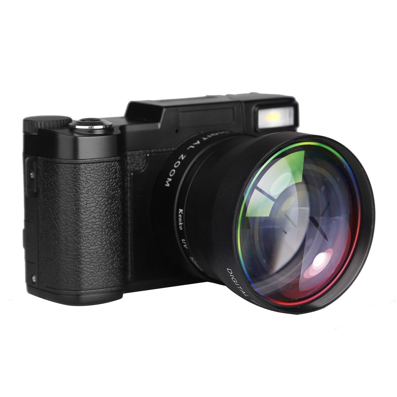 PowerLead Videocamera Fotocamera Digitale Camcorder Vlogging Full HD 1080P da 24.0MP con schermo da 3 pollici rotante fino a 180° e flash retrattile a scomparsa product image