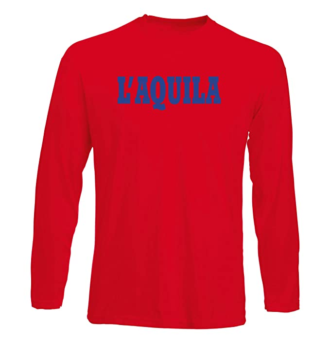 Uomo Wc0926 Rossa Shirt Manica Aquila L it Lunga ItaliaAmazon T 0vOmnwN8
