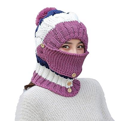 New Autumn Winter Hats Men And Women Hair Ball Cuffed Outdoor Thick Knit Hat KL
