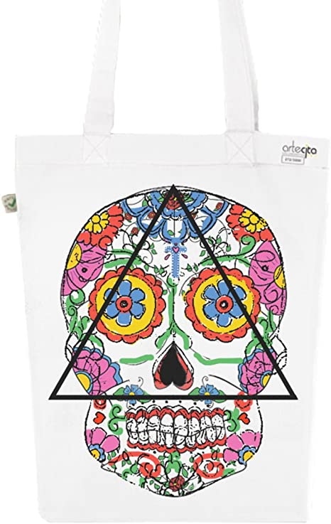 Tote Bag color blanco estampado – lienzo de algodón orgánico ...