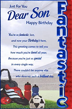 Son birthday card just for you dear son happy birthday high son birthday card just for you dear son happy birthday high quality card bookmarktalkfo Gallery