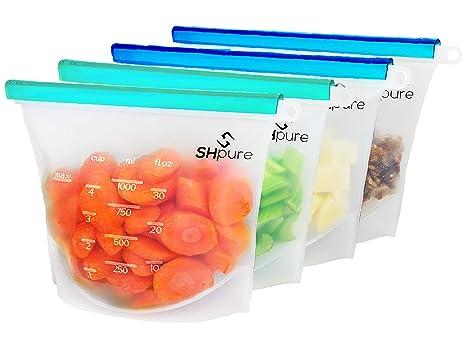 Amazon.com: SHPure - Bolsas de silicona reutilizables para ...