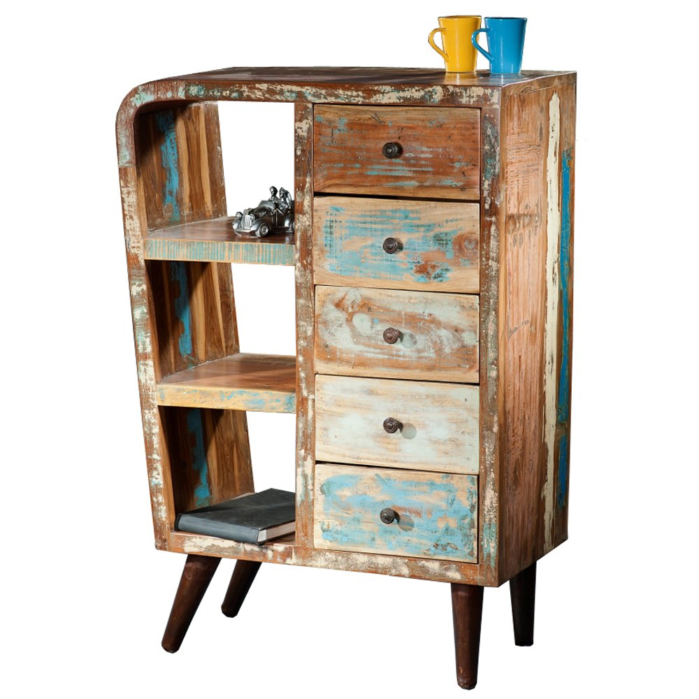 vintage shabby schrank kommode retro schubladenschrank highboard konsole jetzt kaufen. Black Bedroom Furniture Sets. Home Design Ideas