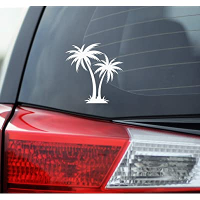 Blue Giraffe Inc Palm Tree Car Decal - 4.5'' Beach Bumper Sticker for Your Car: Automotive