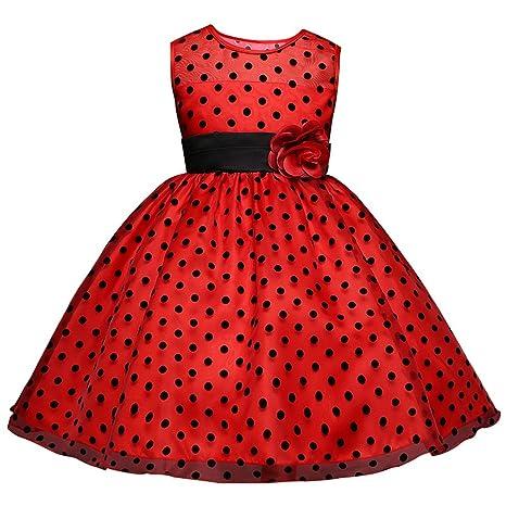 e73e006a0280e Amazon.com: Baby Girls Striped Dress for Girls Formal Wedding Party ...