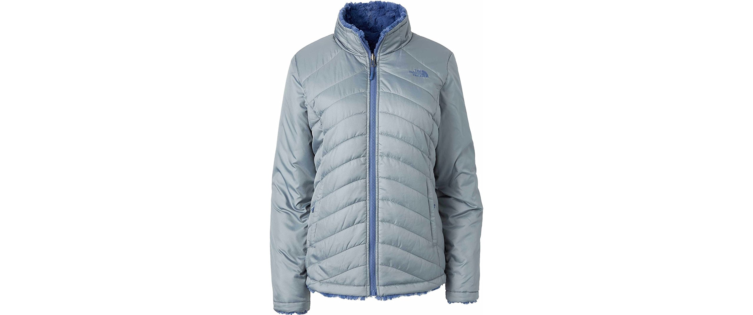 NORTH FACE WMNS XL MOSSBUD SWIRL REVERSIBLE MID GREY/BLUE