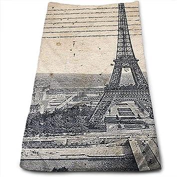 Toallas de Mano de Lujo JTRVW, Torre Eiffel de París, Toalla de Mano Grande
