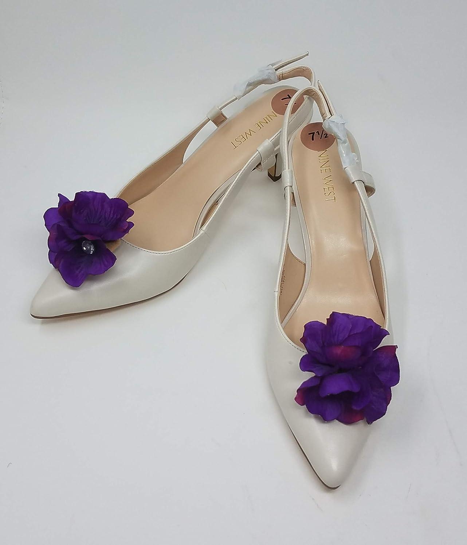 Purple Color Flower Clip for Shoes