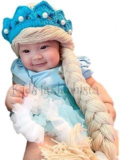 Disney Elsa Frozen Princess Queen Costume hat Wig Hair Tiara Baby Girl