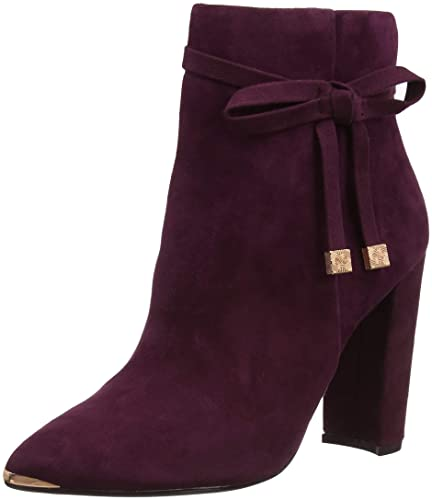 752ab48ef3a Amazon.com   Ted Baker Women's Qatena Suede Zip Heeled Ankle Boot ...