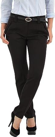By Tex Pantalones De Tela Para Mujer H500 Pantalones Para Oficina En 5 Colores Marron Oscuro 40 Amazon Es Ropa Y Accesorios