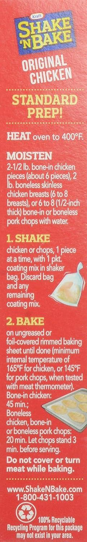 Amazon Com Kraft Shake N Bake Seasoned Coating Mix Box Original Chicken 4 5 Ounce Prime Pantry
