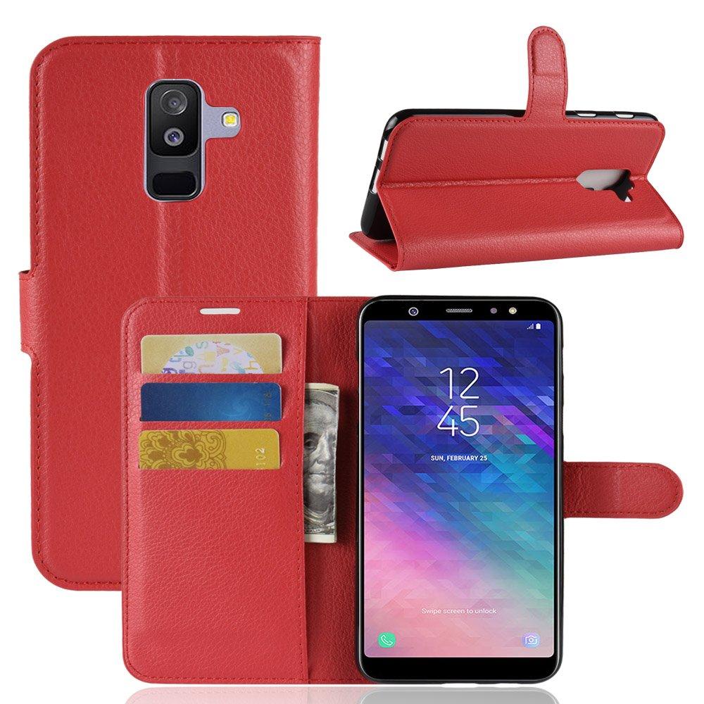 Funda cartera para Samsung Galaxy A6 Plus 2018 con varios compartimentos para tarjetas, cambios AIOIA