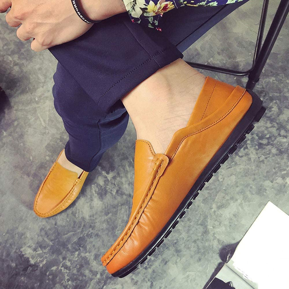 Mocassins Homme Pas Cher Casual Hommes Chaussures Paresseuses Confortables AIMEE7 Durable Hommes Bout Rond Chaussures Plates Mode Hommes Mocassins en Cuir Mocassins de Conduite pour Hommes