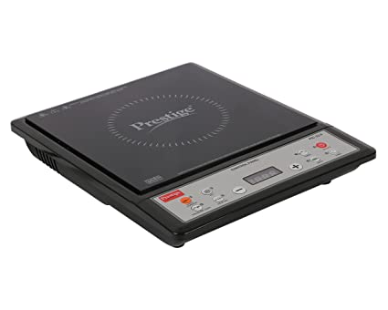 Prestige Plastic Induction Cook-Top Pic 22. 0 1200W Power (Black and Silver)