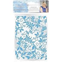 Sara Signature Winter Wonderland-5x7 Embossing Folder-Entwined Holly 1