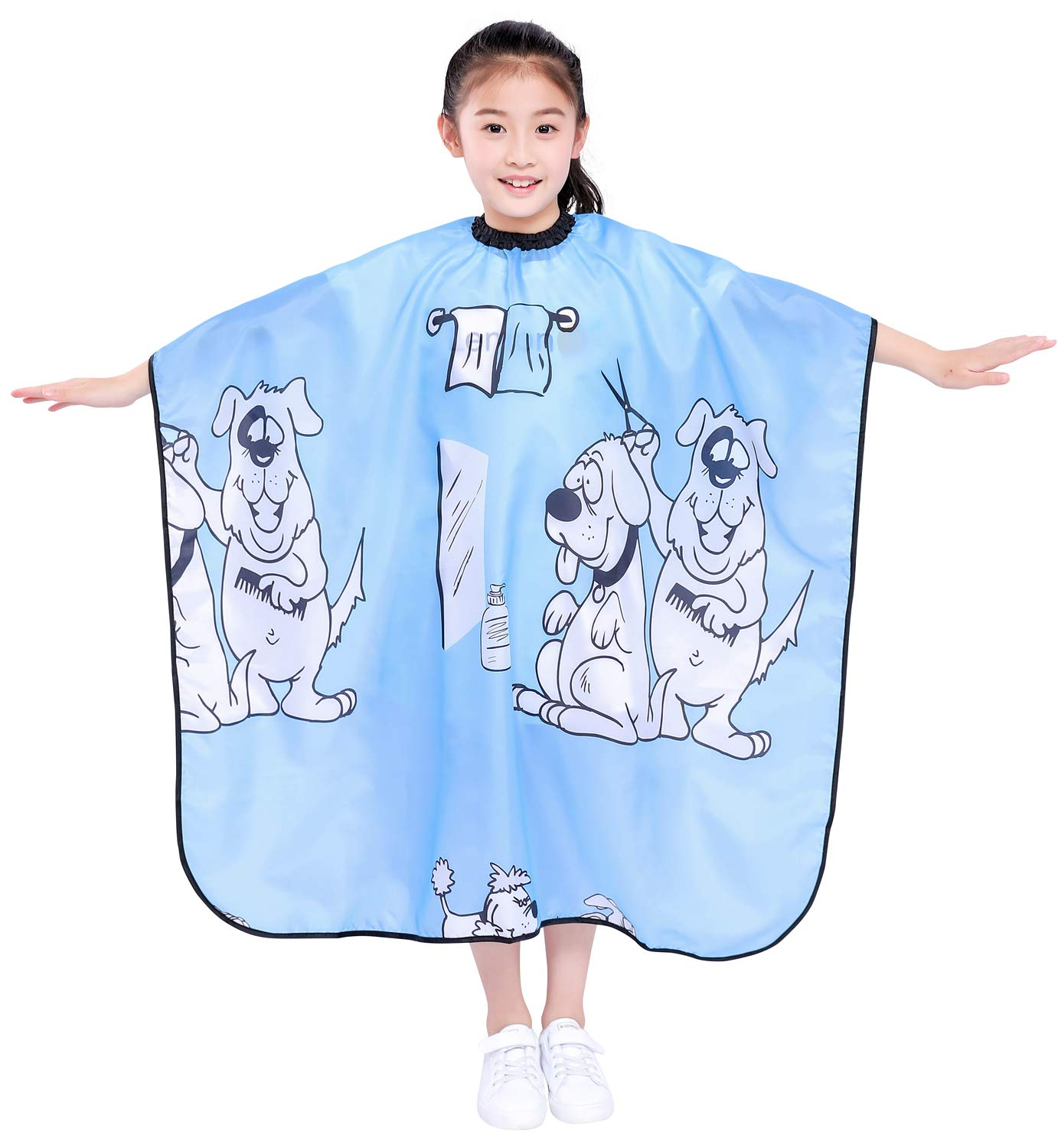 "Kids Haircut Salon Cape, Hair Cutting Cape for Kid cloth, Child Shampoo  Waterproof Capes 12""X 12"" (Blue)"