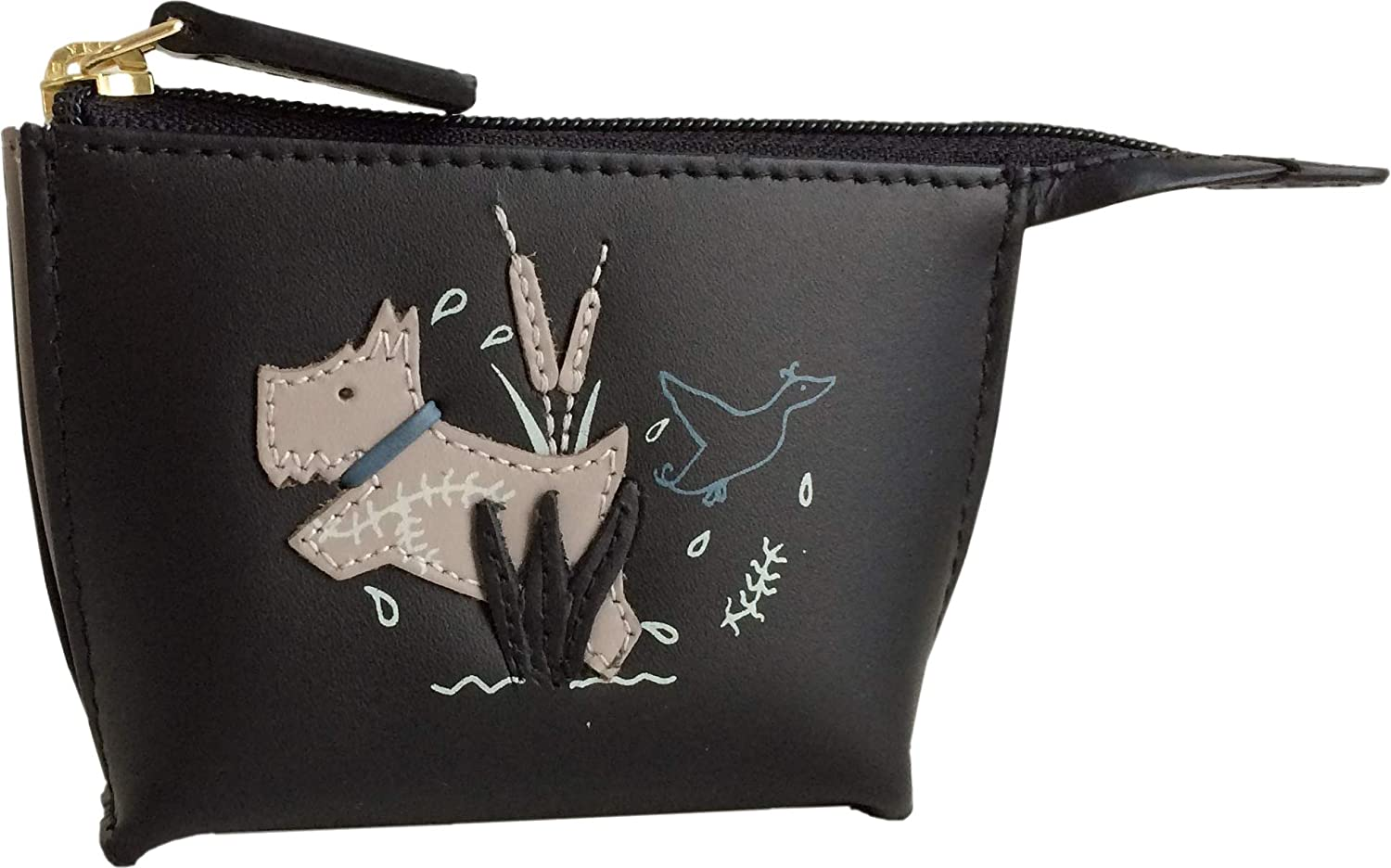 Radley'The Dog And The Duck' Small Leather Coin Purse in Black