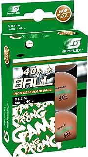 Sunflex Ping-Pong Balle Mixte Adulte, Multicolore 10255