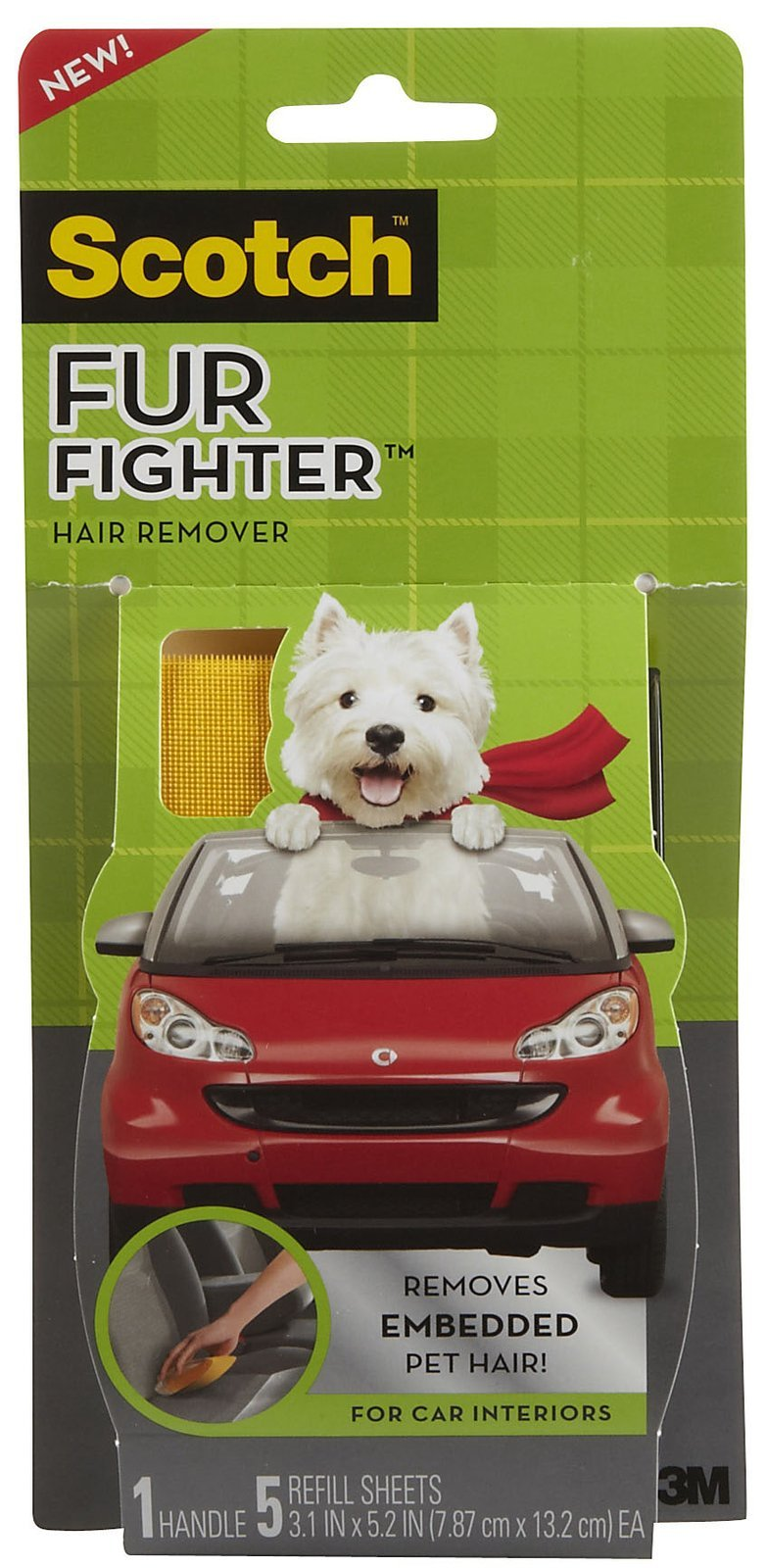 Scotch(TM) Fur Fighter(TM) Hair Remover by Scotch Brands
