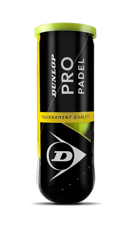 DUNLOP Pro Pelotas Padel B3, Adultos Unisex, Amarillo, Bote ...
