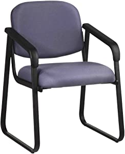 Office Star Deluxe Sled Base Fabric Visitors Chair with Designer Plastic Shell Back and Arms, Cabernet