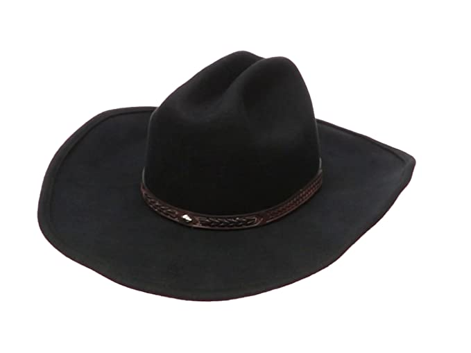 66fd0128acca02 Men's Wool Cowboy Hat Cody Shapeable Western Felt Hats by Silver Canyon at  Amazon Men's Clothing store: