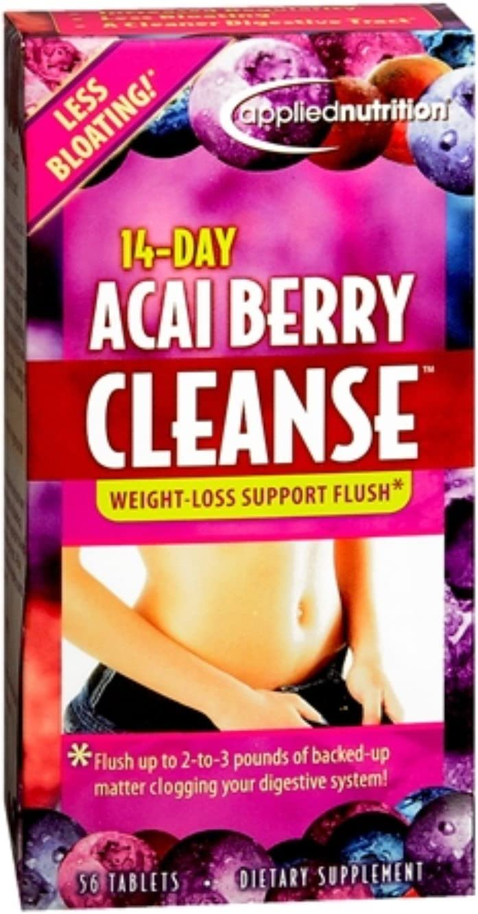 Applied Nutrition 14-Day Acai Berry Cleanse Tablets 56 Tablets Pack of 11