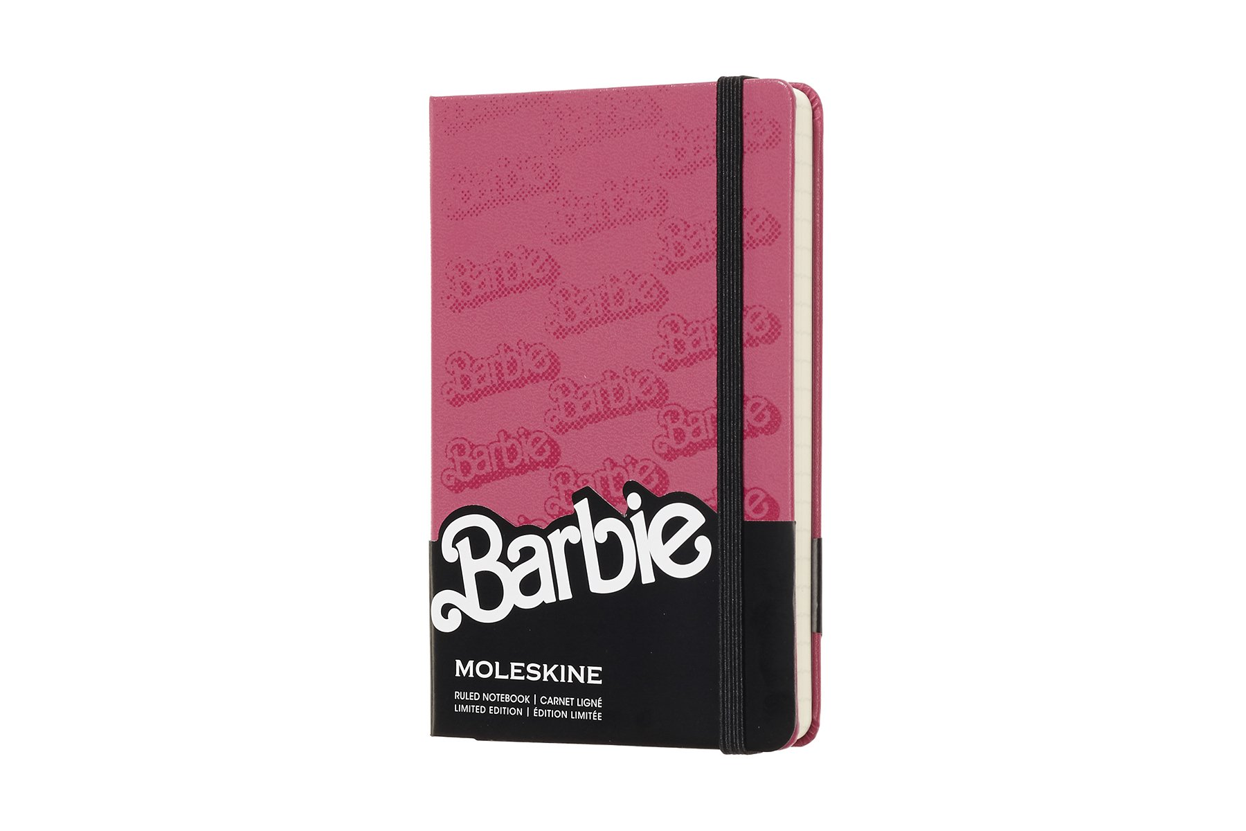 Moleskine Limited Edition Barbie Hard Cover Notebook, Ruled,
