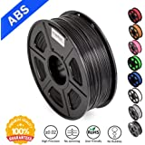 ABS Filaments for 3D Printer-SUNLU Black ABS Filament 1.75 mm,Low Odor Dimensional Accuracy +/- 0.02 mm 3D Printing Filament,2.2 LBS (1KG) Spool 3D Printer Filament for 3D Printers & 3D Pens,Black