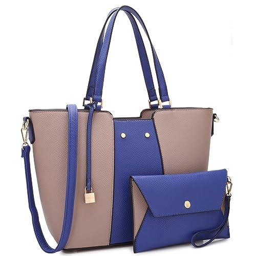 26062f4c7 Dasein Bolso de la taleguilla de la Llave con Mini Bolso Adicional para el  Uso portátil para Mujer Grande Piedra/Azul: Amazon.es: Zapatos y  complementos