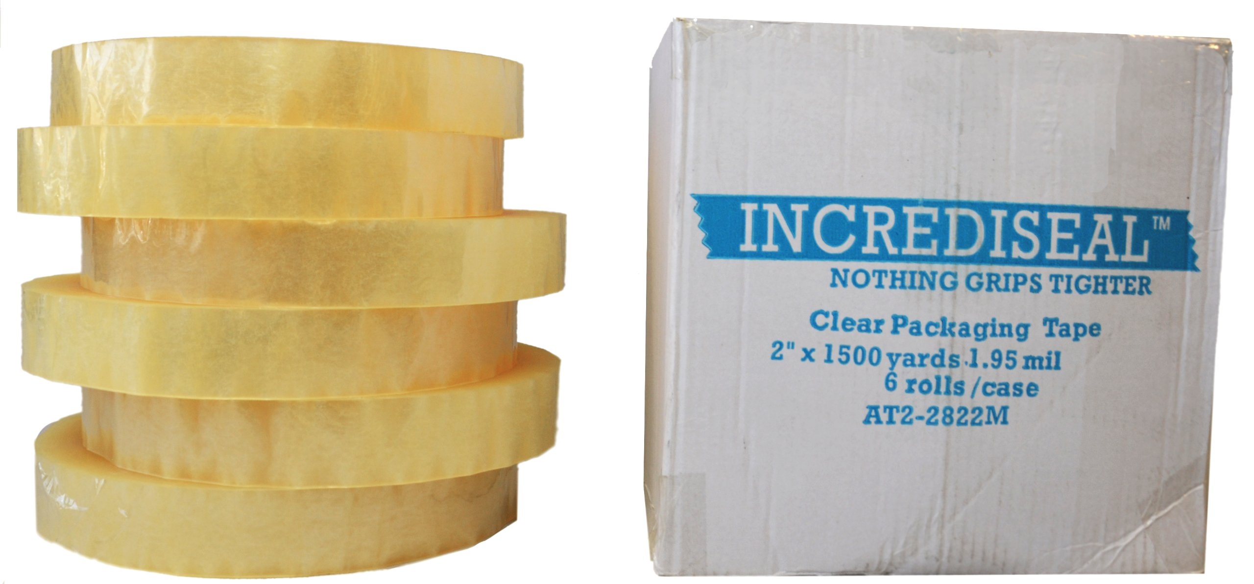 INCREDISEAL 6 Rolls Machine Tape, 2 Inch x 1500 Yards x 1.95 Mil - Clear