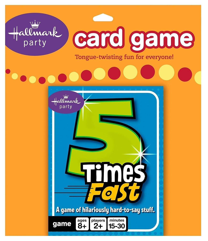 Hallmark 206916 5 mal schnell Card Game