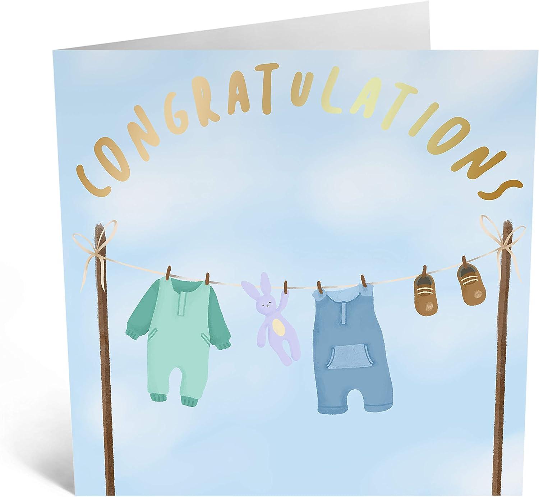 dise/ño adorable con pegatinas divertidas Tarjeta de felicitaci/ón para beb/é Central 23