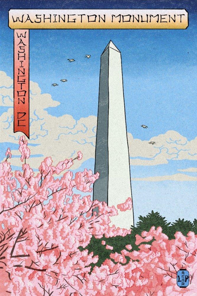 独特な ワシントンDC x – ワシントンモニュメント – Blossoms Cherry Blossoms Art ( # 3 ) – Woodblock Cotton Towel LANT-73711-TL B01DZ1YRPO 12 x 18 Art Print 12 x 18 Art Print, 白井市:840662f2 --- arianechie.dominiotemporario.com