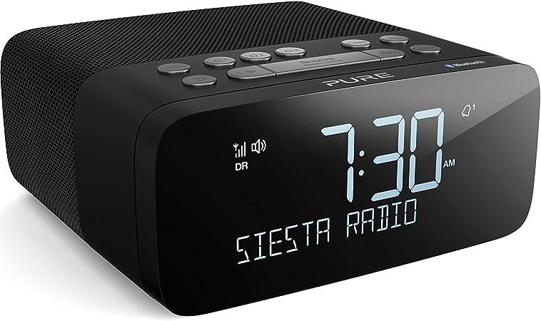 Pure Siesta Rise S Bluetooth Radiowecker Digitalradio Mit Crystalvue Display Bluetooth Usb Aux Weckfunktion Sleep Timer Dab Dab Und Ukw 20 Senderspeicherplätze Graphite Heimkino Tv Video