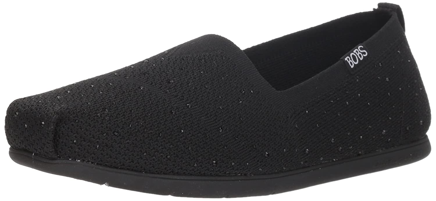 Skechers BOBS from Women's Plush Lite-Instant Shine Ballet Flat B077T2PNG1 6.5 M US|Bbk