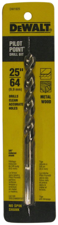 DEWALT DW1925 25/64-Inch Gold Ferrous Oxide Pilot Point Twist Drill Bit BLAA2