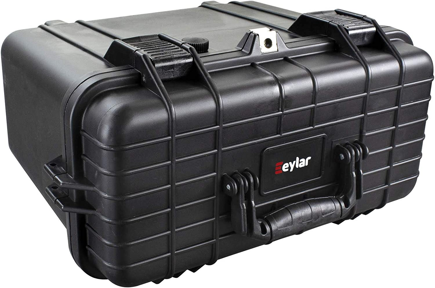 Water and Shock Resistant w//Foam Black by Eylar Large 22.06 Protective Roller Hard Camera Case