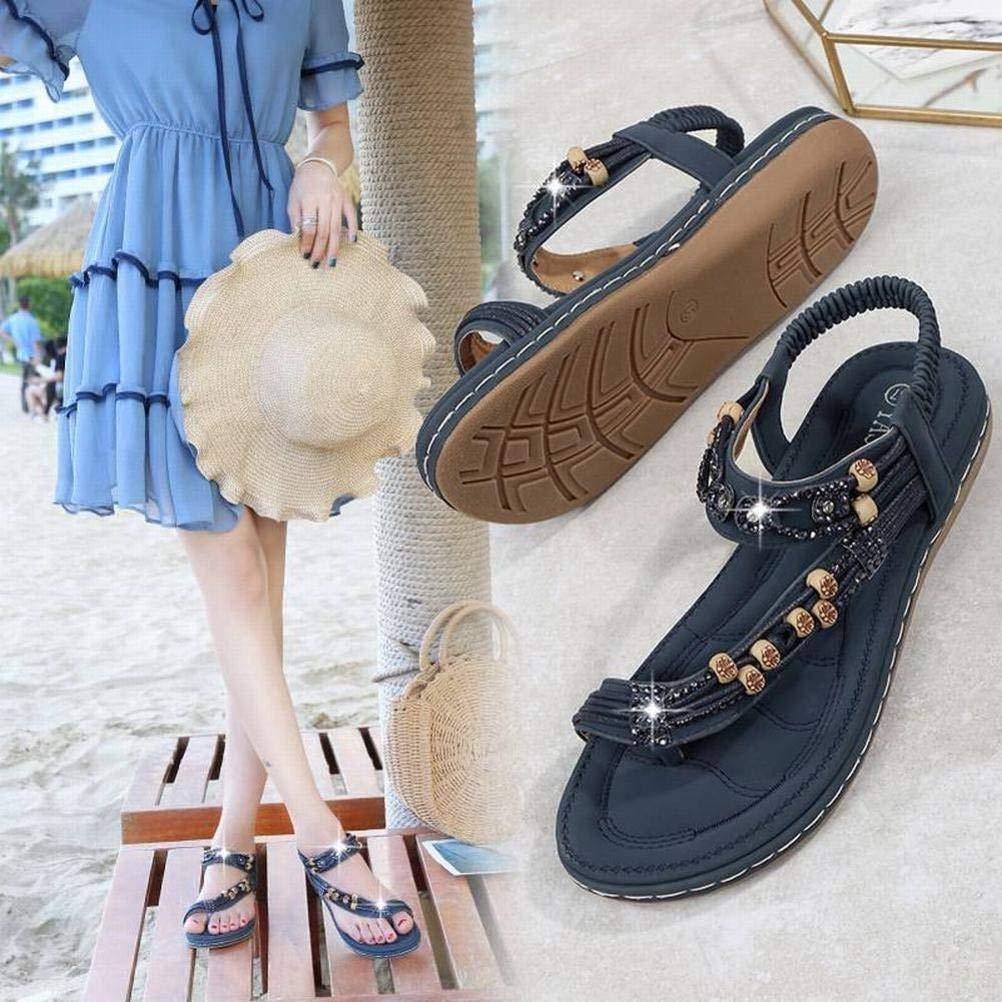 De Sandalias Bohemias 42 Apricot Mujer Women Zapatos Sandals Piedras E9IHD2