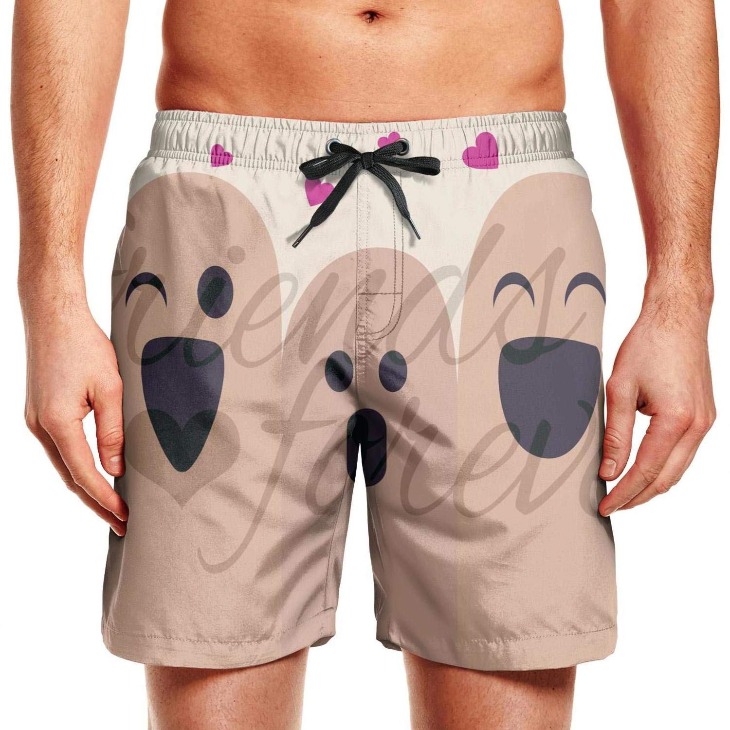 Fun Quick-Dry Classic Comfortable Fashion Mens Printed Beach Pants Swim Trunks Shorts Football Happy Best Friend Day Poster Trend