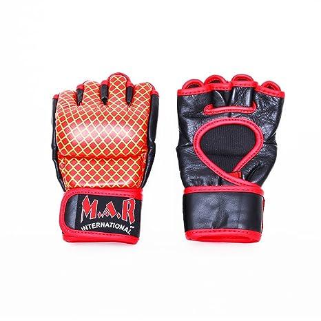 M.A.R InternationalLtd Genuine Leather Mma Ultimate Fighting Gloves Muay Thai Grapple /& Strike Gloves Gym Fitness Supplies Sparring Gear