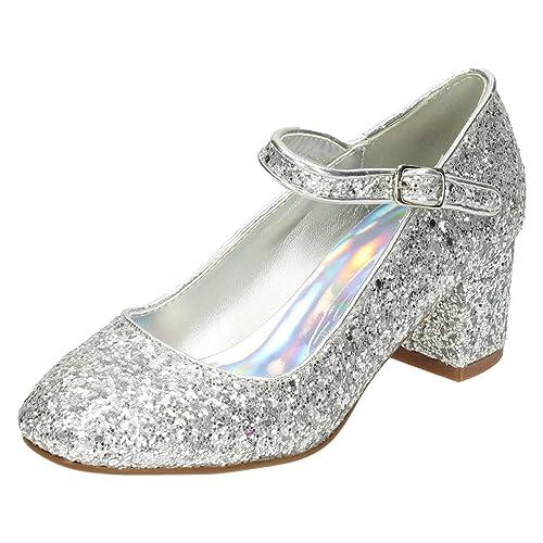 1bd704d65bf Spot On - Botas para niña Plateado plata: Amazon.es: Zapatos y complementos