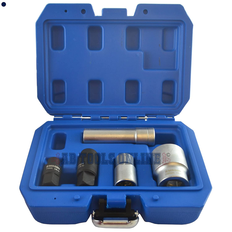 5pc Socket Set for Bosch VE Diesel Fuel Injection Pumps Pump Remover Installer AB Tools